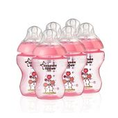 tommee tippee closer to nature Easivent Bottle 260ml x6 Pink