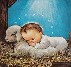 This is one of favorite childhood Christmas pictures! Vintage Baby Jesus Laying on A Lamb Under Holy Starlight Christmas Greeting Card Christmas Scenes, Christmas Nativity, Christmas Past, Christmas Holidays, Christmas Crafts, Vintage Christmas Images, Vintage Holiday, Christmas Pictures, Vintage Greeting Cards