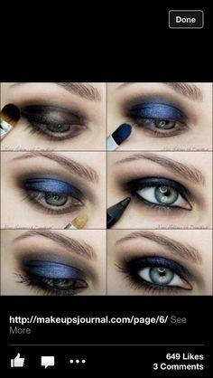 Blue&Black Smokey Eye