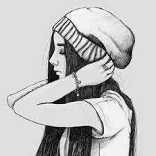 Imagen de girl, drawing, and art Easy Pencil Drawings, Girly Drawings, Drawings Of Girls, Music Drawings, Tumblr Girl Drawing, Girl Drawing Sketches, Art Drawings Sketches Simple, Beautiful Drawings, Hipster Girl Drawing