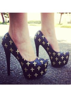 Cross Yourself Platform Pumps on Chiq http://www.chiq.com/gojane/cross-yourself-platform-pumps