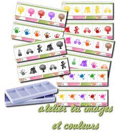 La maternelle de Laurène: Boite à compter - tri images et couleurs