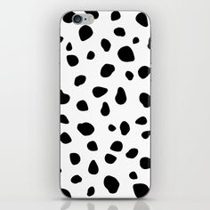 $15.99 Skins are thin, easy-to-remove, vinyl decals for customizing your device. #iphone #skin #tech #dog #animals #pattern #spots #dots #pet #puppy #Dalmatian #black #white #modern #creative #abstract #buyart #society6 #gift #giftideas