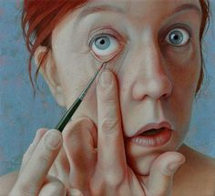 Jantina Peperkamp - makeup  NO STOP IT! YOU'RE DOING IT WRONG. omg..... this painting is gonna have so many wrinkles when it grows up. omfg stop i can't look anymore.