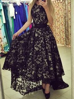 Cheap dress patterns prom dresses, Buy Quality dresses office directly from China dress tight Suppliers: Black High Low Cocktail Dresses Party Dress Sleeveless Short Front Long Back Lace Pattern Vintage Homecoming Wear