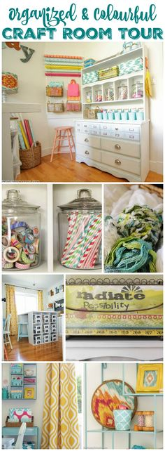 Organized & Colourful Craft Room Tour