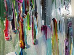 Medusa groot abstract schilderij in herfsttinten en natuurkleuren zoals taupe bessen - Bruin taupe schilderij ...