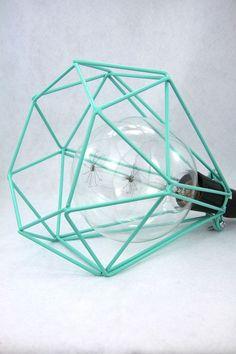 Lampen die auf das Grundkonzept der Leuchte reduziert sind gefallen mir einfach sehr  :)  teal cage light