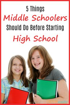 During the middle school years, we need to prepare our students for their next big phase - high school. Help students make a successful transition by making sure they do these 5 things before 9th grade. Luckily, as homeschoolers, we have the flexibility to build them all right into our lesson plans, making it easy to set our middle school kids up for success in high school. #homeschooling #educationpossible #homeschoolingmiddleschool #middleschool #highschool #tweens #teens