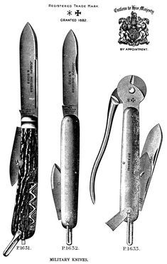 Joseph Rodgers & Sons, Sheffield: 1900 P1633 Military Pliers Knife.
