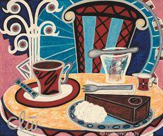 "Jacqueline Ditt - ""Coffee Old Vienna "" (Kaffee Alt Wien) 2012 Artcard after a painting -  www.universal-arts.de"