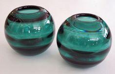 epoca - Edward Hald for Orrefors - Rare Pr of Swedish Art Deco Orrefors Iridescent Art Glass Vases - 1stdibs / View 2