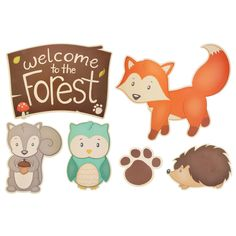 Woodland Party Cut-Outs Woodland Critters, Woodland Theme, Woodland Party, Woodland Creatures, Woodland Animals, Forest Animals, Diy Projects Videos, Fun Projects, Sewing Projects