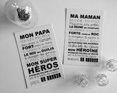 Carte MON PAPA - MA MAMAN
