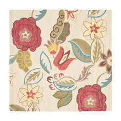 Safavieh BLM671A Blossom Area Rug, Beige / Multi | Lowe's Canada