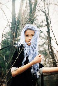 Light blue hair dye, I love the almost white hair blue.