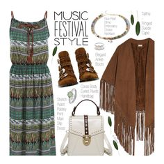 """""""Show Time: Best Festival Trend (boho)"""" by beebeely-look ❤ liked on Polyvore featuring Talitha, Givenchy, boho, Bohemian, sammydress and festivalfashion"""