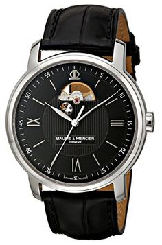 Baume & Mercier Men's 8689 Classima Skeleton Display Watch - Join The Klub Best Affordable Watches, Authentic Watches, Fine Watches, Wrist Watches, Skeleton Watches, Hand Watch, Leather Watch Bands, Luxury Watches For Men, Watch Brands