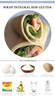 Fit Chef: Wrap Integral sem glúten | CAROL BUFFARA