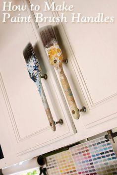 how to make paintbrush handles