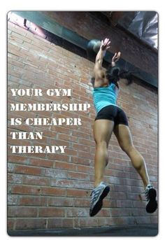 Your gym membership is cheaper than therapy