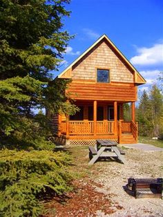 Photo Of Loft Cabin Cottage With Bathroom At Mackinaw Mill Creek Camping,  This Is The