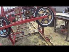 Ленточная пилорама на колёсах от мопеда - YouTube