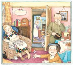 Janet Ahlberg. Absolutely adore this illustration and the book it comes from.