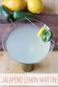 Jalapeno Martini with Lemon | Thoughtfully Simple