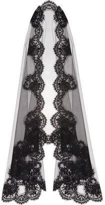 ShopStyle: Dolce & Gabbana Lace-appliqué tulle veil