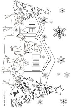 Embroidery patterns christmas snowman 54 ideas for 2019 Christmas Colors, Christmas Snowman, Kids Christmas, Christmas Crafts, Christmas Tress, Christmas Images, Christmas Coloring Pages, Coloring Book Pages, Printable Coloring Pages