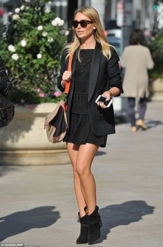 Dressed to impress: Alex Gerrard enjoyed a shopping spree on Rodeo Drive in Los Angeles as...