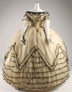 Dress (Ball Gown) Date: ca. 1854 Culture: American or European Medium: silk