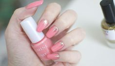 """Lumene Gel Effect Nail Polish shade 57 """"Spring is here"""" with a little bit of glitter on top"""