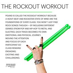Rockout Workout. From the Pound Info Series on Instagram.