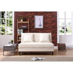 Merril Tufted Sofa - 36 inches high x 56 inches wide x 37 inches deep (Pearl - Polyester), Ivory Outdoor Sofa, Outdoor Furniture, Outdoor Decor, All Season Porch, Leather Loveseat, Best Sofa, Modern Rustic Interiors, Elegant Homes, Love Seat