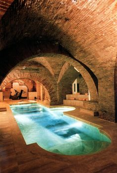 Pool with a view of Etruscan ruins, Italy