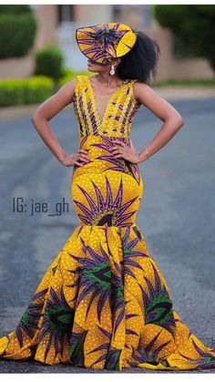 The recent most trending Pretty Exotic Ankara Long Gowns for the ladies. African Print Dresses, African Print Fashion, African Fashion Dresses, African Dress, African Prints, Ankara Fashion, African Attire, African Wear, African Women
