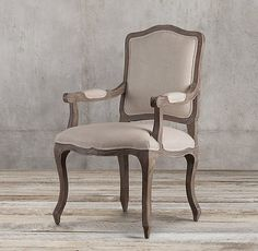 Vintage French Camelback Fabric Armchair