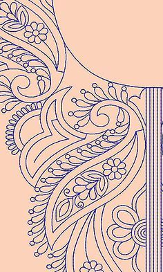 Embroidery Works, Embroidery Transfers, Beaded Embroidery, Embroidery Stitches, Embroidery Patterns, Hand Embroidery, Machine Embroidery, Stencil Patterns, Zentangle Patterns