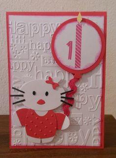 Geburtstagskarte zum 1. Geburtstag!