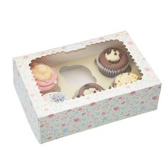 With an insert to hold up to 6 of your yummy cupcakes or delicate fairy cakes, this Kitchen craft Sweetly Does It 6 Cupcake Goody Box will keep your. Porta Cupcake, Cupcake Gift, Cupcake Boxes, Box Cake, Cupcake Packaging, Box Packaging, Bakery Packaging, Large Cupcake, Icing Techniques