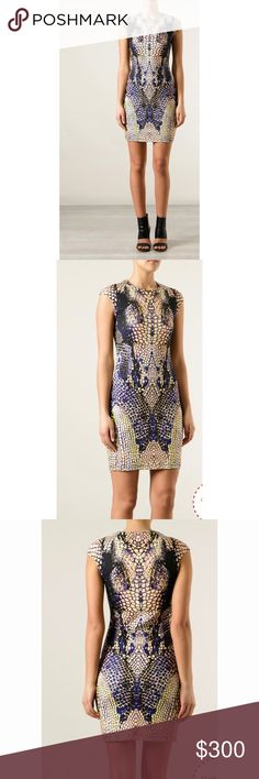 HP[mcQueen] McQ snakeskin dress Print fitted cotton round-neck evening & formal dresses. Mcq By Alexander Mcqueen multicolor snakeskin print dress. 98% cotton, 2% elastane. Bought it for an event but wore something else. NWT McQ Alexander McQueen Dresses Mini