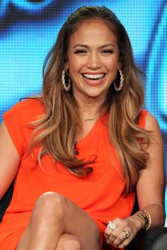 J.Lo, whose glow is just as coveted as her flippy long layers, gave us hair envy during the 2012 Winter TCA Tour.