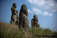 Odd, heavily eroded statues in the Ukraine.  (photo posted by author Will Hart on facebook)