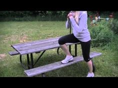 Outdoor Picnic Bench Workout - 10 Exercises