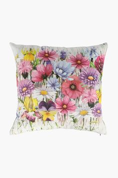 Printed Wildflowers Scatter Cushion, - Shop New In - Home Déc Cushions, Decor, Decor Gifts, Scatter Cushions, Tapestry, My Design, Home Decor Shops, Prints, Floor Cushions