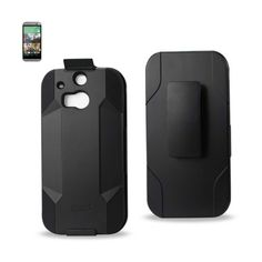 Reiko HTC One M8 Hybrid Heavy Duty Holster Combo Case In Black //Price: $20.99 & FREE Shipping //     #mobileaccessories #phonecases