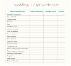 Wedding Budget Calculator Template  Budget Templates