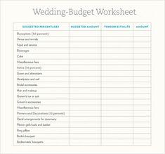 Wedding Budget Calculator Template  Budget Templates